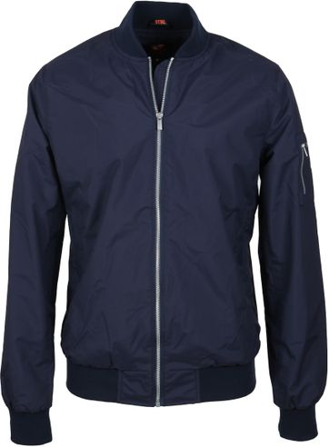 Suitable Bomber Jacket Chapron Navy