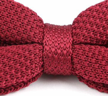 Suitable Bow Tie Knitted Bordeaux