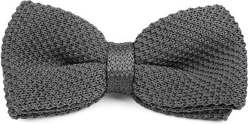 Suitable Bow Tie Knitted Grey