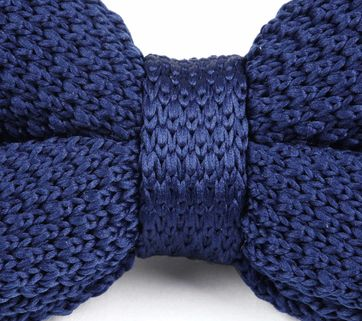 Suitable Bow Tie Knitted Navy