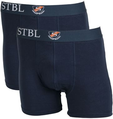 Suitable Boxershort 2Pack Dark Blue