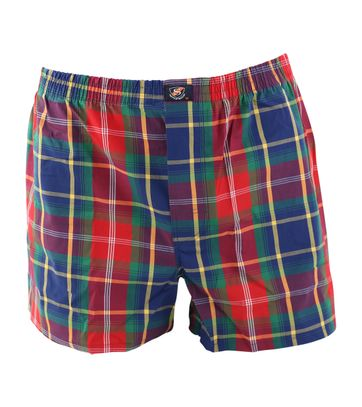 Suitable Boxershort Bordeaux navy ruit