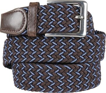 Suitable Braided Belt Brown