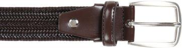 Suitable Braided Belt Dark Brown