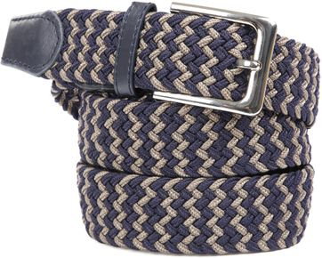 Suitable Braided Belt Navy Taupe