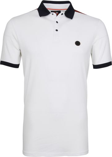 Suitable Branson Poloshirt Stretch White