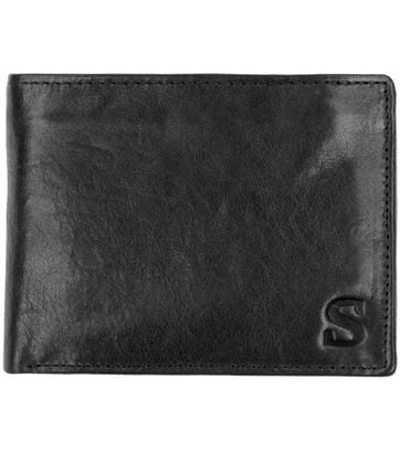 Suitable Brieftasche Schwarz Leder - Skim Proof