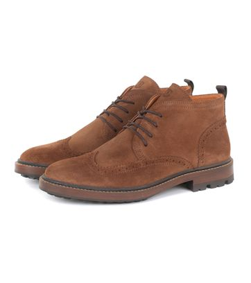 Suitable Brogue Boots Camel
