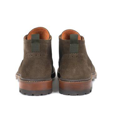 Detail Suitable Brogue Boots Groen