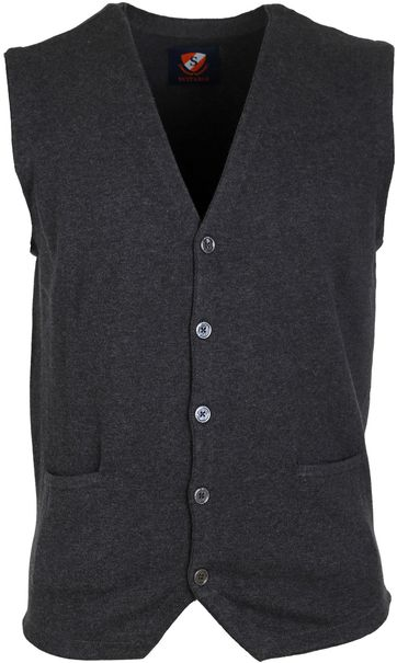 Suitable Cardigan Gert Antraciet