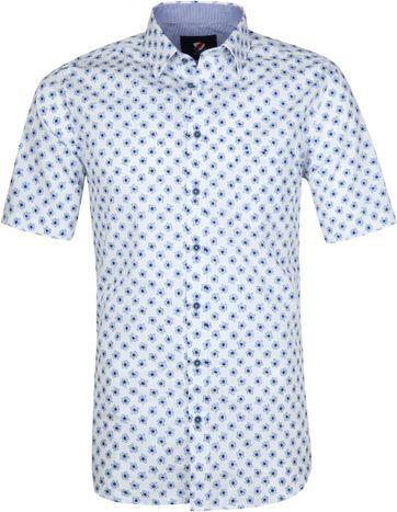 Suitable Cas Hemd Bloemen Lichtblauw