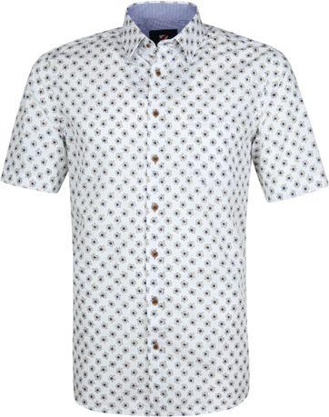 Suitable Cas Hemd Blumen Weiß