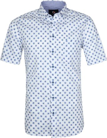 Suitable Cas Shirt Flowers Light Blue