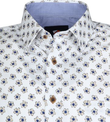 Suitable Cas Shirt Flowers White