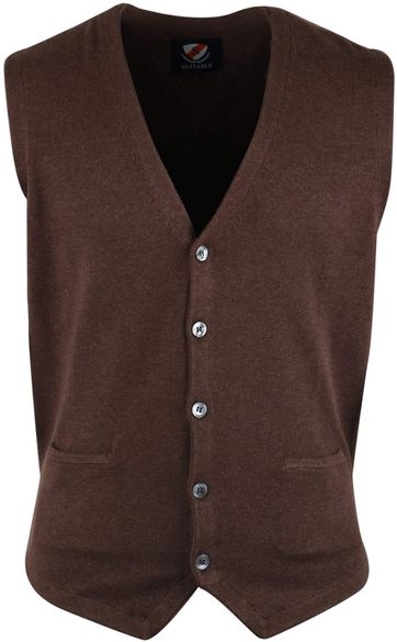 Suitable Casual Gilet Braun