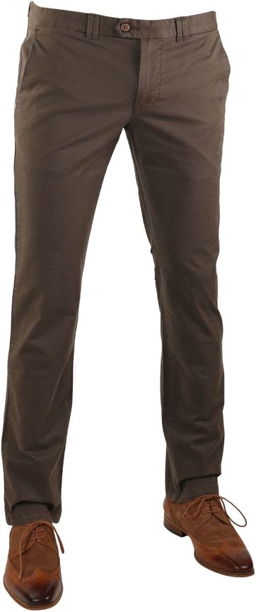 Suitable Chino Broek Dante Bruin