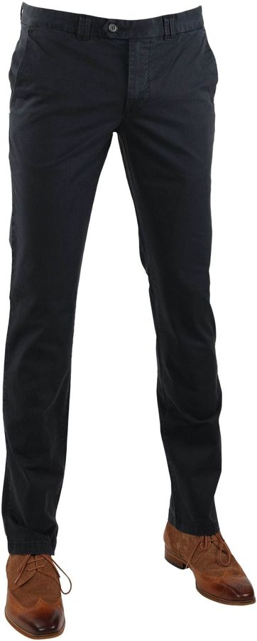 Suitable Chino Broek Dante Donkerblauw