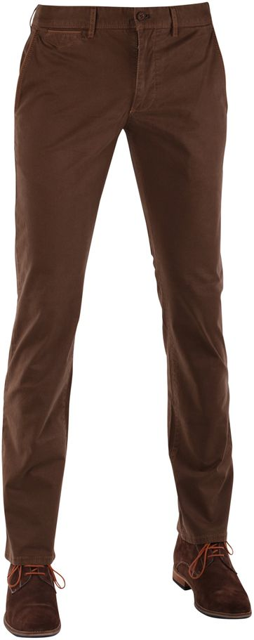 Suitable Chino Broek Khaki Print