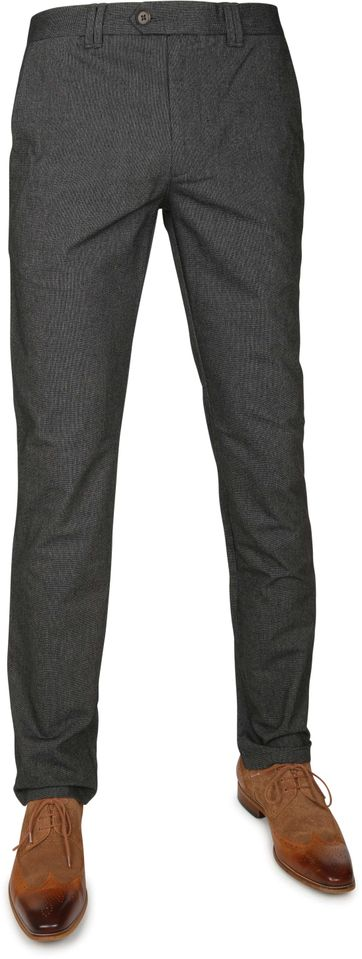 Suitable Chino Dante Dessin Dark Grey