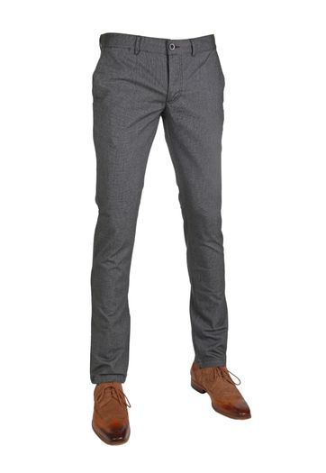 Suitable Chino Dante Grey Herring