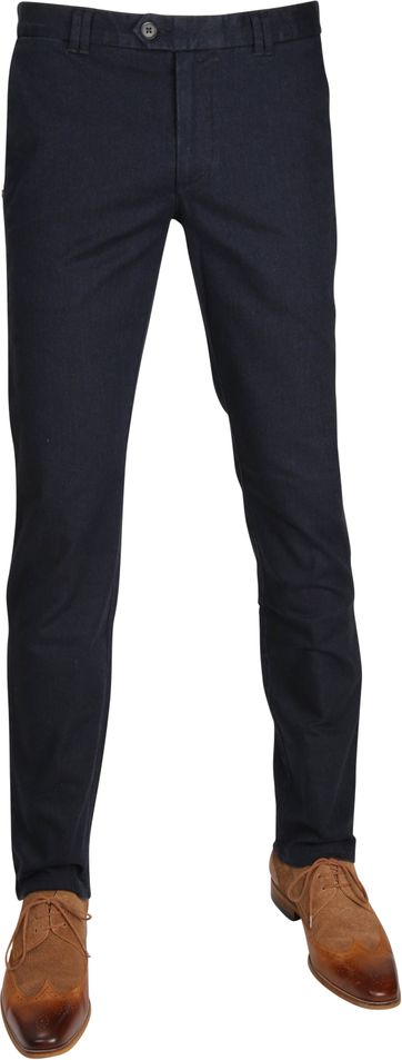 Suitable Chino Dante Herring Navy
