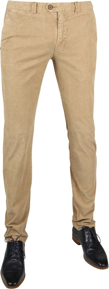 Suitable Chino Dante Smart Beige Corduroy