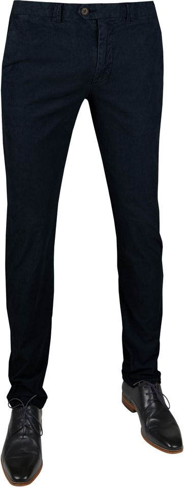 Suitable Chino Dante Smart Navy Corduroy