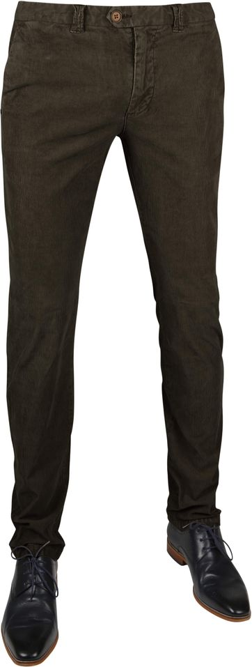 Suitable Chino Dante Smart Olive Corduroy