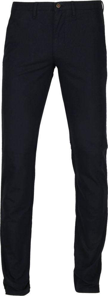 Suitable Chino Dessin Donkerblauw