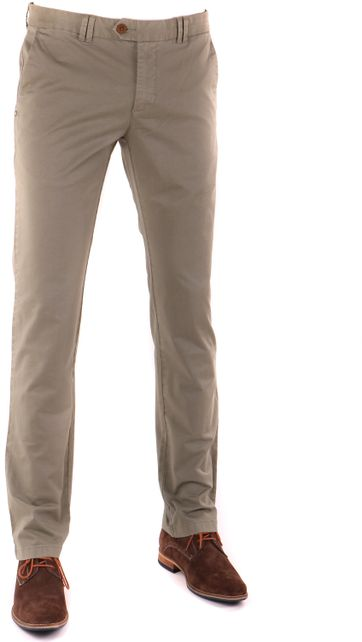 Suitable Chino Hose Olive Grün