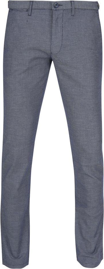 Suitable Chino Locke Donkerblauw