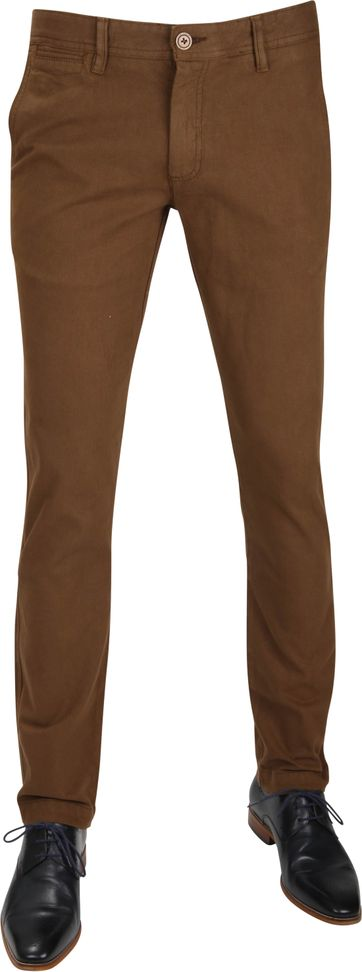 Suitable Chino Oakville Dessin Bruin