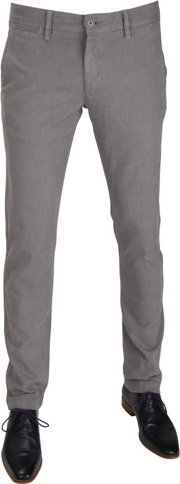 Suitable Chino Oakville Dessin Grijs