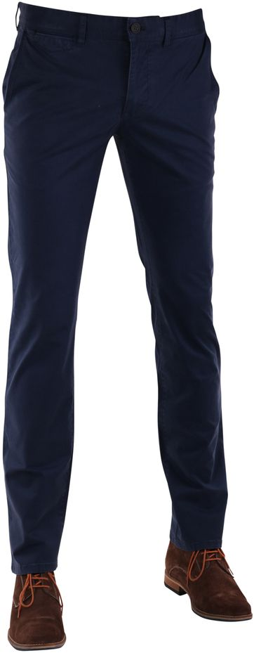 Suitable Chino Pant Dark Blue Print