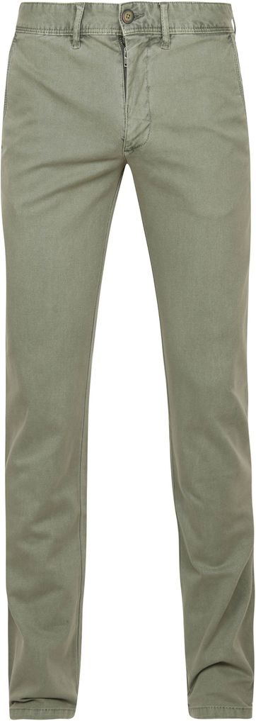 Suitable Chino Sartre Oxford Olive Olivgrün