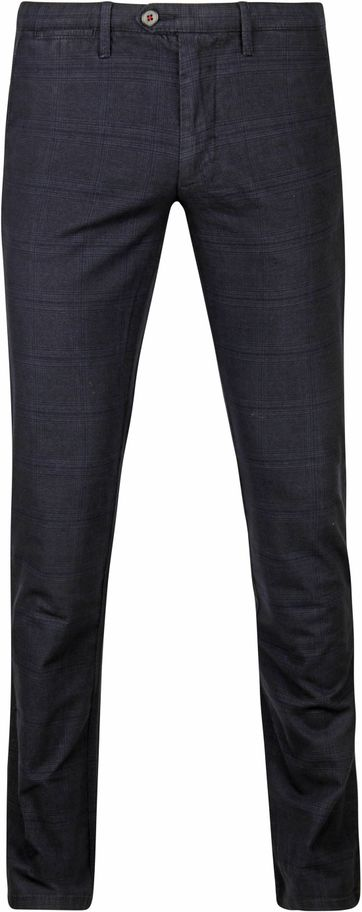 Suitable Chino Sartre Pane Navy