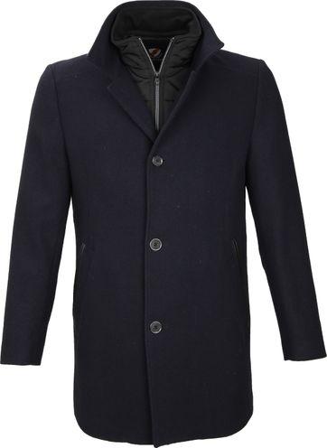 Suitable Coat Geke Inlay Navy