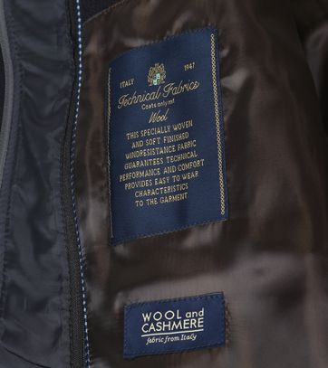Detail Suitable Coat Hans Donkerblauw