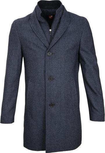 Suitable Coat Hans Jeans Navy