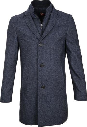 Suitable Coat Hans Jeans Navy