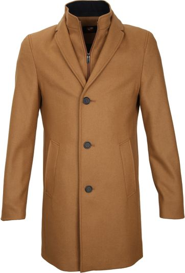 Suitable Coat Hans Melton Camel