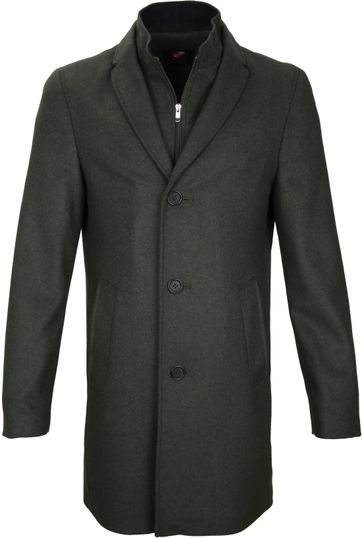 Suitable Coat Hans Melton Dark Green