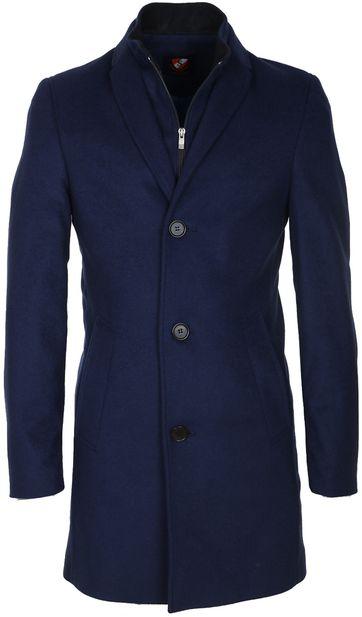 Suitable Coat Hans Wool Cobalt