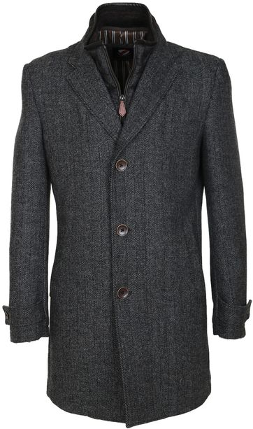 Suitable Coat Herring Antraciet