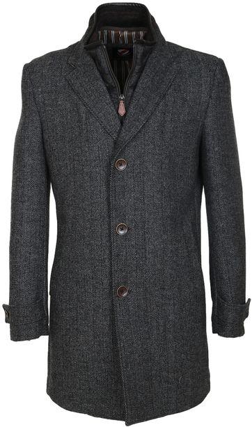 Suitable Coat Herring Dark Grey