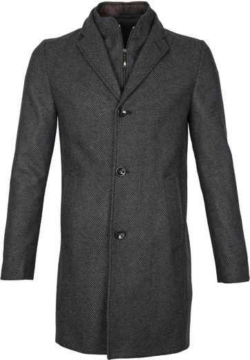 Suitable Coat Karel Antraciet
