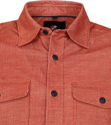 Suitable Corduroy Overshirt Brique Rood