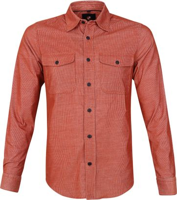 Suitable Corduroy Overshirt Brique Rot