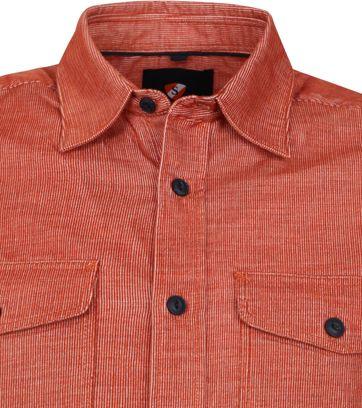 Suitable Corduroy Overshirt Brique Rot