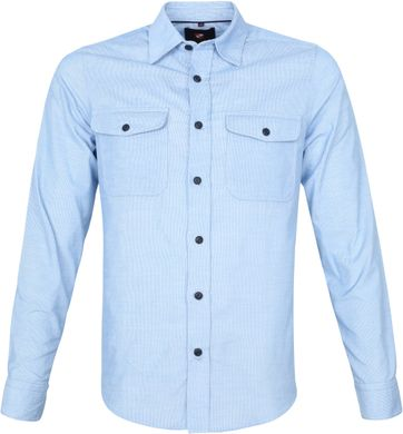 Suitable Corduroy Overshirt Lichtblauw